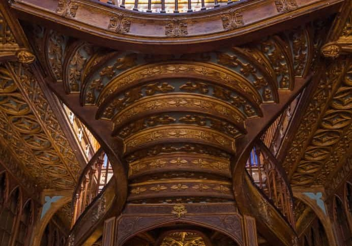 PORTO, PORTUGAL - SEPTEMBER 09, 2016: Book shop Livraria Lello on September 09, 2016 in Porto, Portugal.